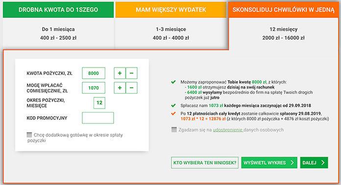 Kredyt konsolidacyjny online – szybko i sprawnie Ekassa.pl